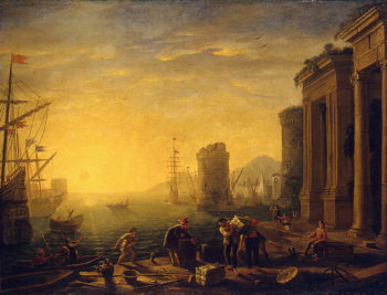 Morning in the Harbour Late 1630s | Gellee Claude (Le Lorrain) | oil painting
