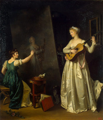 Artist Painting a Portrait of a Musician Before 1803 | Gerard Marguerite | oil painting