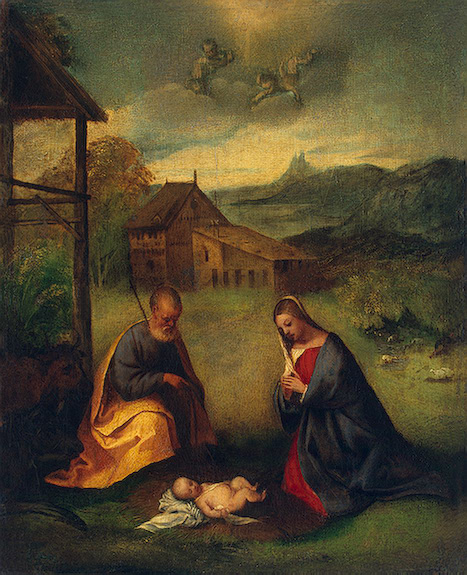 Adoration of the Christ Child 1506 | Giorgione | oil painting