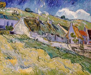 Cottages 1890 | Vincent Van Gogh | oil painting