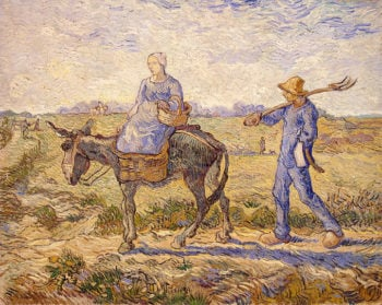 Morning-Going out to Work (After Millet) 1890 | Vincent Van Gogh | oil painting