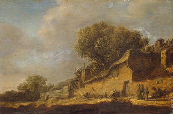 Landscape with a Peasant Cottage 1631   Jan van Goyen   oil painting