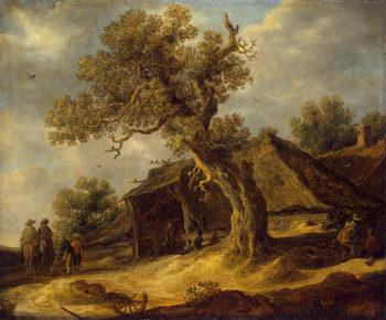 Landscape with Oak 1634 | Jan van Goyen | oil painting