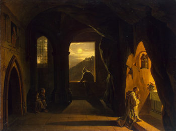 Monks in a Cave First half of the 19th century | Granet Francois-Marius | oil painting