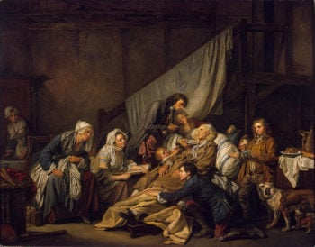 Filial Piety (The Paralytic) 1763   Greuze Jean-Baptiste   oil painting