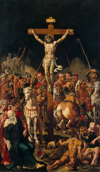 Calvary (Triptych) Between 1545 and 1550 | Heemskerck Maarten van | oil painting