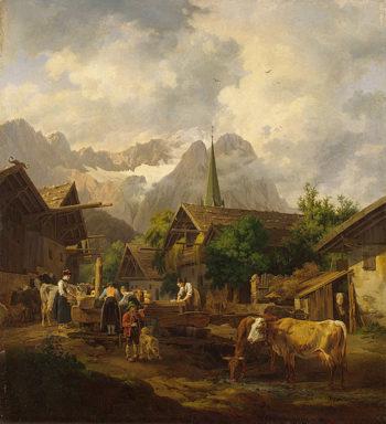 Morning in Partenkirchen 1819 | Hess Peter von | oil painting
