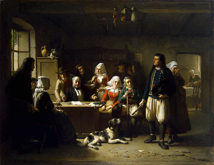 After the Unsealing of the Will 1869 | Heuvel Theodore Bernard de | oil painting