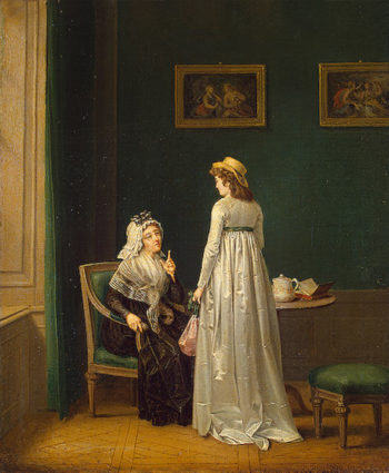 A Mothers Advice 1799 | Hillestrom Per I | oil painting