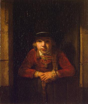 Boy Looking through the Window Late 1640s | Hoogstraten Samuel Dircksz vans | oil painting