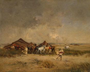 Arab Encampment 1872 | Huguet Victor Pierre | oil painting