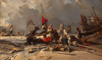 After a Storm 1869   Isabey Louis Gabriel Eugene   oil painting