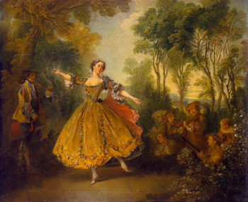Mlle Camargo Dancing First half of the 18th century | Lancret Nicolas | oil painting