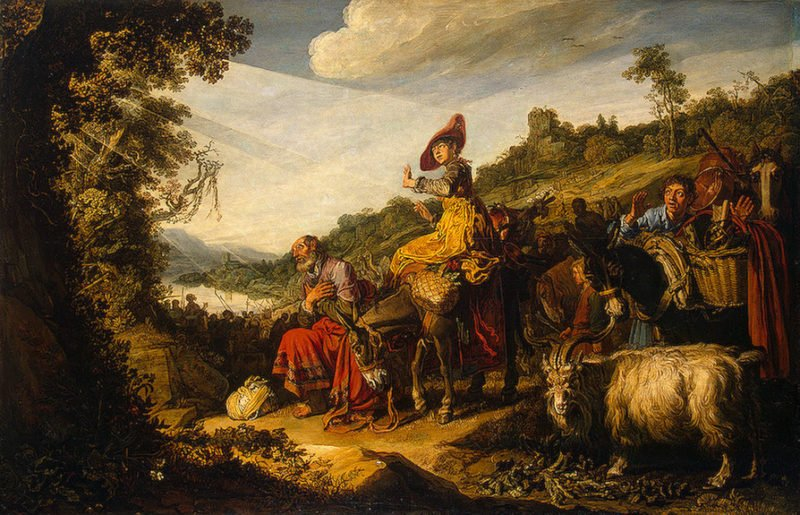 Abraham on the Road to Canaan 1614 | Lastman Pieter | oil painting