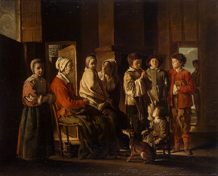 A Visit to Grandmother 1645or1648 | Le Nain Louis | oil painting