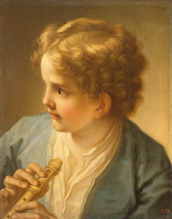 Boy with a Flute 1720 | Luti Benedetto | oil painting