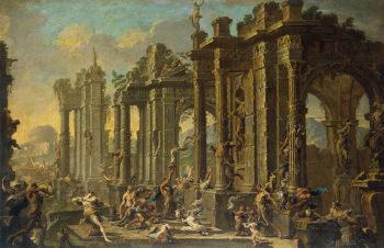 Bacchanalia 1710-1720 | Magnasco Alessandro (Lissandrino)-Spera Clemente | oil painting