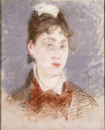 Girl in a Wing Collar 1879OR1880   Manet-Edouard   oil painting