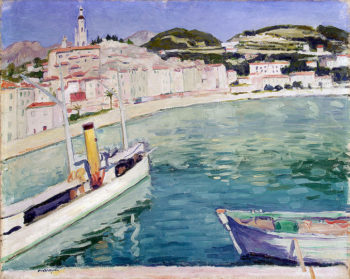 Harbour at Menton 1905 | Marquet Albert | oil painting