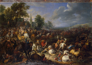 Cavalery in the Battle 1657 | Meulen Adam-Franz van der | oil painting