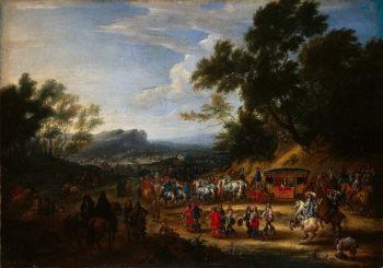 Louis XIV Travelling 1664 | Meulen Adam-Franz van der | oil painting