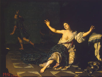 Joseph and Potiphars Wife First half of the 18th century | Mieris Willem van | oil painting