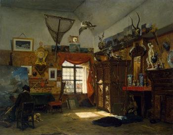 A Painters Studio 1854 | Moer Jean-Baptiste van | oil painting