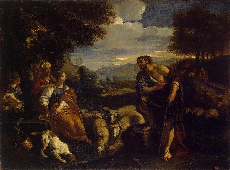 Jacob Meeting Rachel 1659   Mola Pier Francesco   oil painting