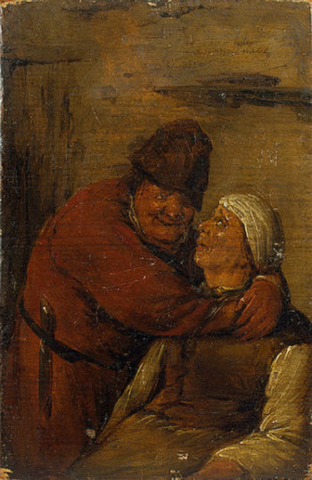 An Old Man and an Old Woman (A Couple Embracing Each Other) 1640s | Molenaer Jan Miense | oil painting