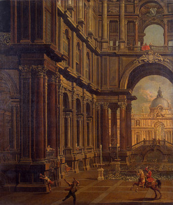 Architectural Perspective Second half of the 18th century | Moretti Pietro | oil painting