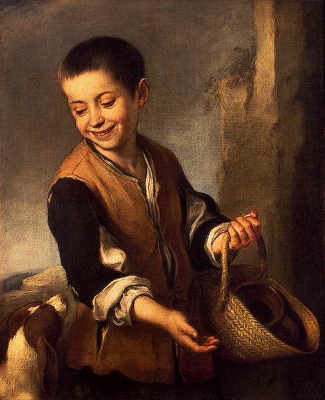Boy with a Dog 1655-1660 | Murillo Bartolome Esteban | oil painting