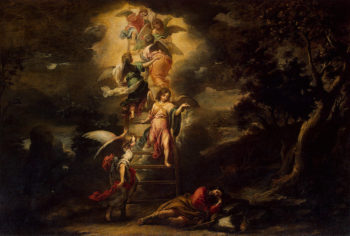 Jacobs Dream 1660-1665 | Murillo Bartolome Esteban | oil painting