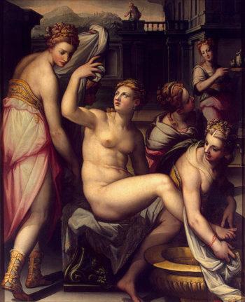 Bathsheba 1570s | Naldini Giovanni Battista | oil painting