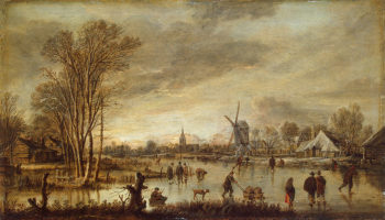 A River in Winter 1645 | Neer Aert van der | oil painting