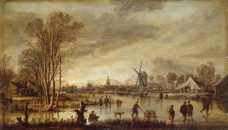 A River in Winter 1645 | Neer Aert van der | oil painting
