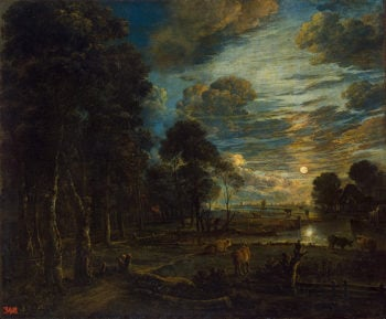 Night Landscape with a River Mid-17th century | Neer Aert van der | oil painting