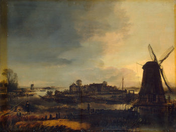 Landscape with a Windmill 1645 | Neer Aert van der | oil painting
