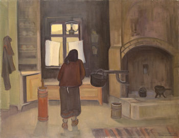 Morning in a Peasant House 1919-1953 | Nelimarkka Eero Alexander | oil painting