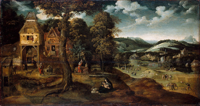 Landscape with the Flight into Egypt 1524 | Patinir Joachim | oil painting