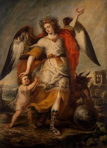 Angel of the Guard 1646 | Pereda Antonio de | oil painting