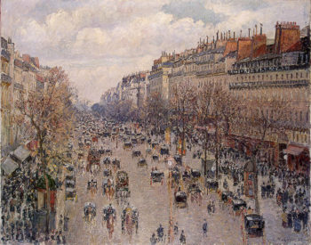 Boulevard Monmartre in Paris 1897 | Pissarro Camille | oil painting
