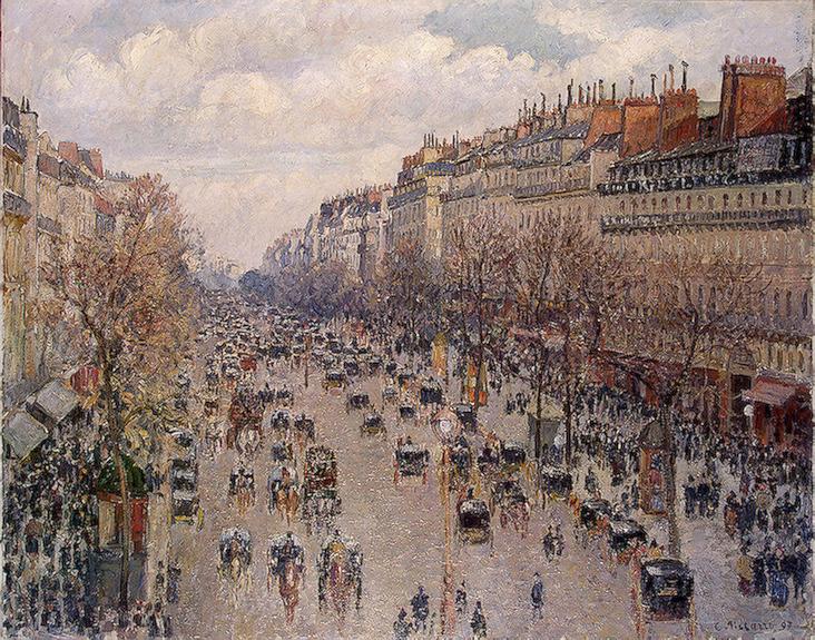 Boulevard Monmartre in Paris 1897 | Pissarro Camille | oil painting