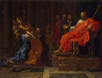 Esther before Ahasuerus 1650s | Poussin Nicolas | oil painting
