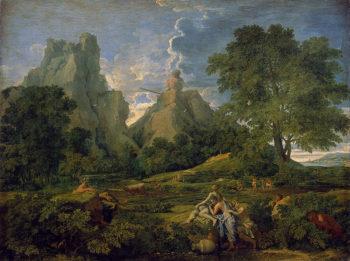 Landscape with Polyphemus 1649   Poussin Nicolas   oil painting