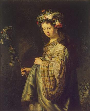 Flora 1634 | Rembrandt Harmensz van Rijn | oil painting