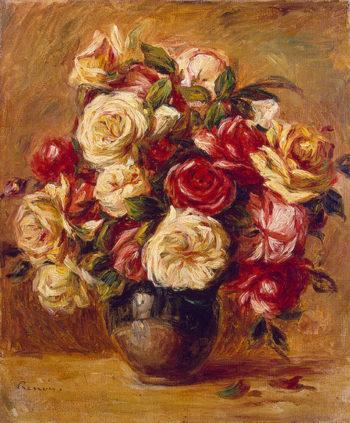 Bouquet of Roses 1909or1913 | Renoir Pierre-Auguste | oil painting