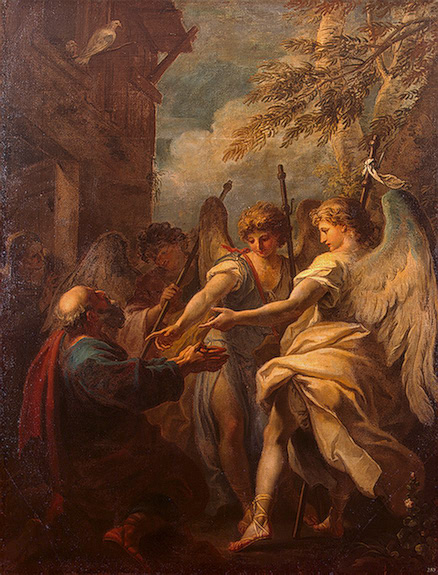 Abraham and the Angels 1694 | Ricci Sebastiano | oil painting