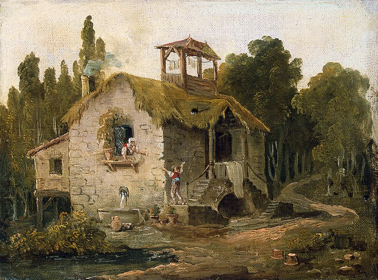 Cottage in the Forest 1796OR1797 | Robert Hubert | oil painting