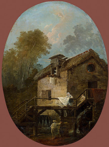 Landscape with a Mill 1796 | Robert Hubert | oil painting