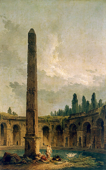 Decorative Landscape with an Obelisk 1773 | Robert Hubert | oil painting